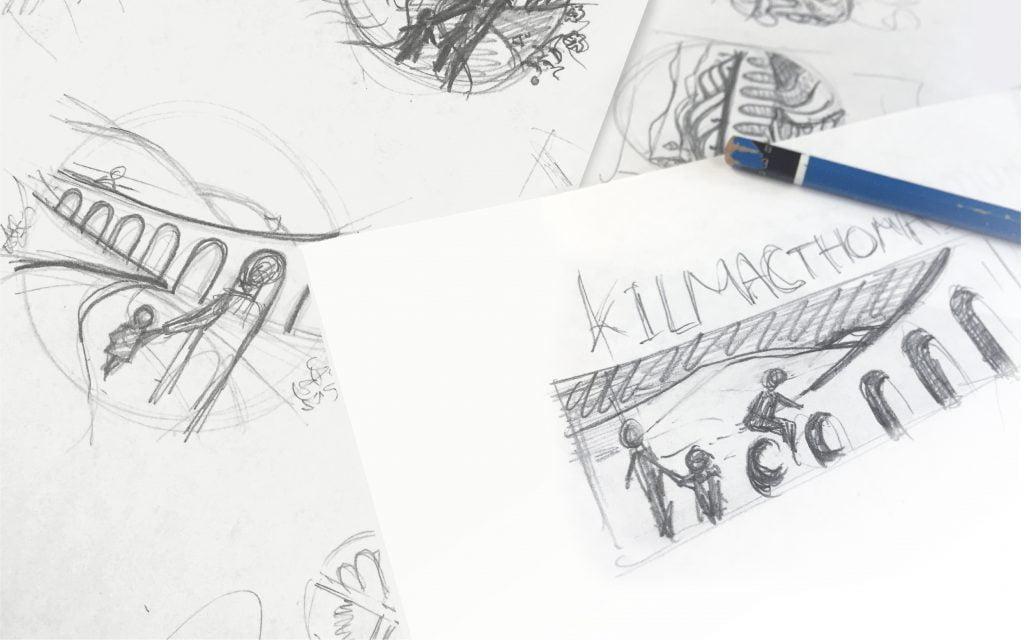 Kilmacthomas logo concept skeches