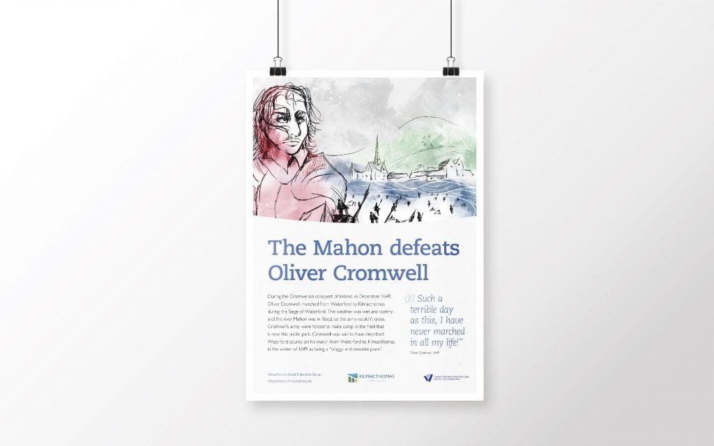 Kilmacthomas illustrated poster of Oliver Cromwell