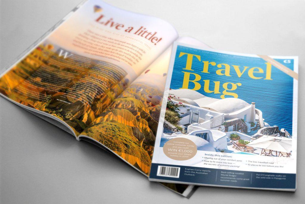 Travel Magazine graphic design